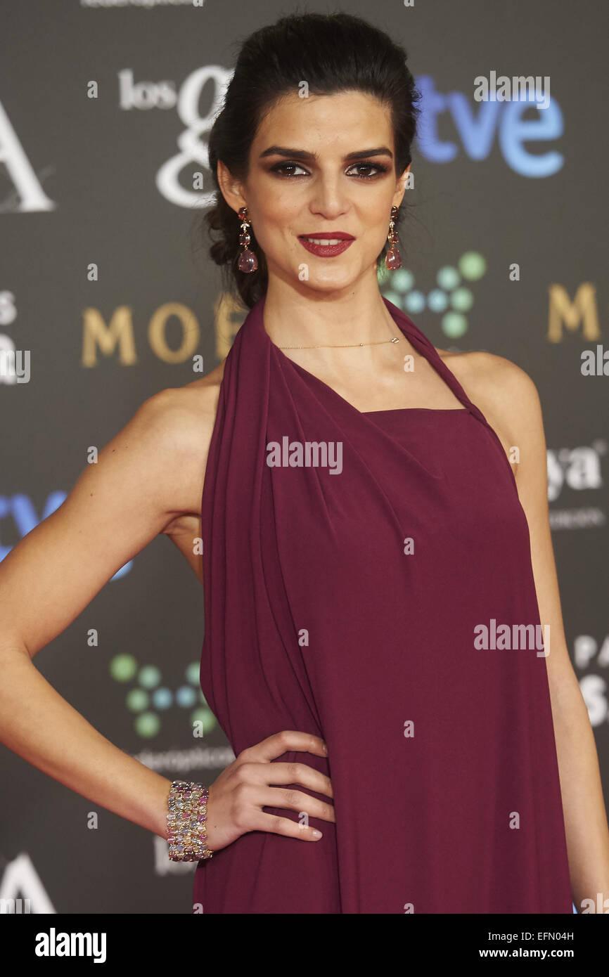 Madrid, Spain. 7th Feb, 2015. Clara Lago attended Goya Cinema Awards 2015 at Centro de Congresos Principe Felipe - Stock Image