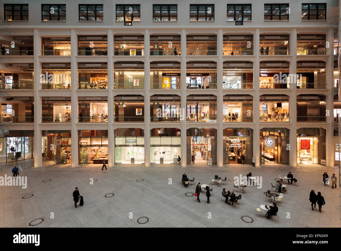 Japan Post (JP) Tower shopping mall in Maranouchi, Tokyo, Japan  Friday January 30th 2015. Stock Photo