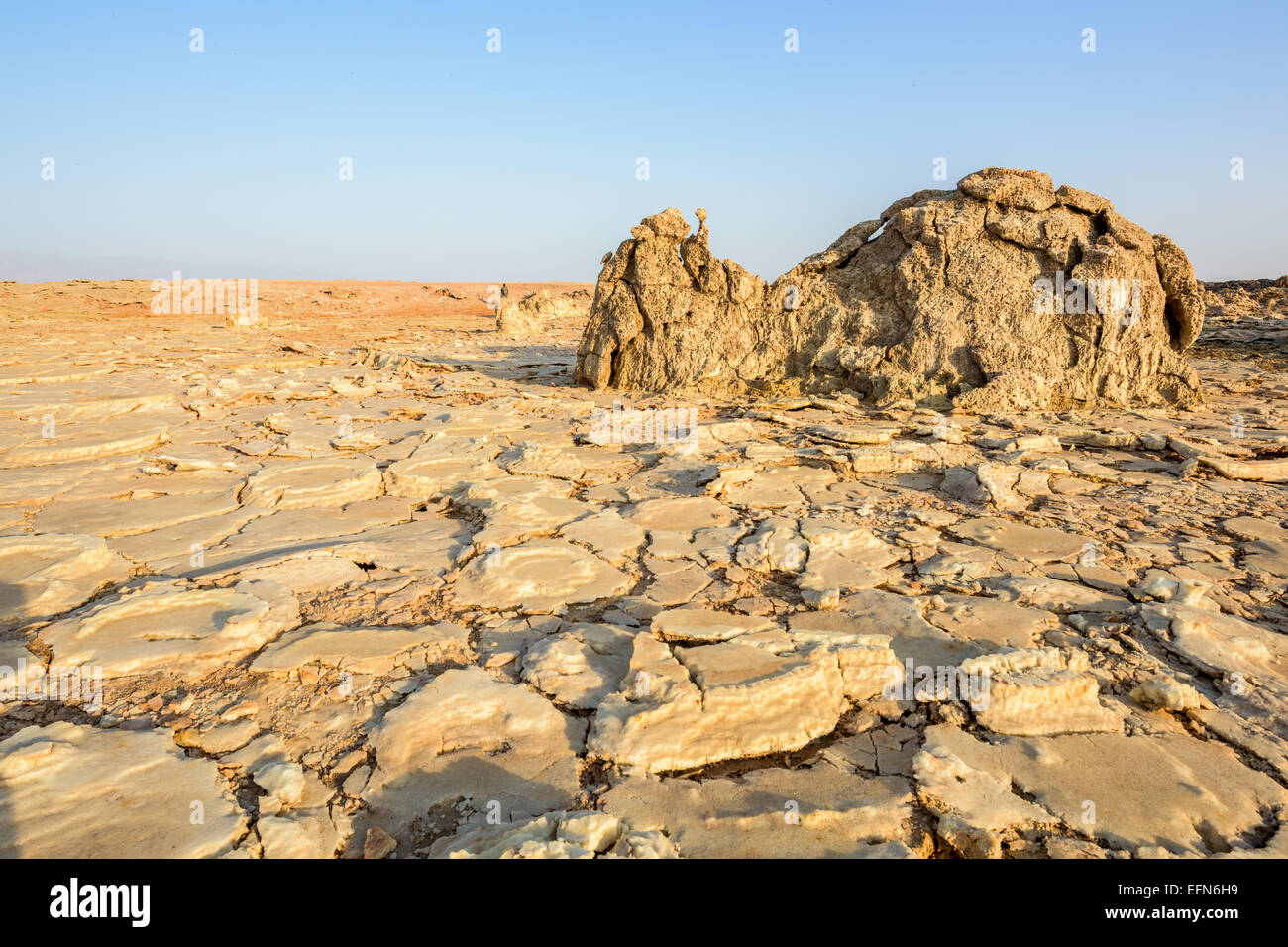 Desert near Dallol in Ethiopia - Stock Image