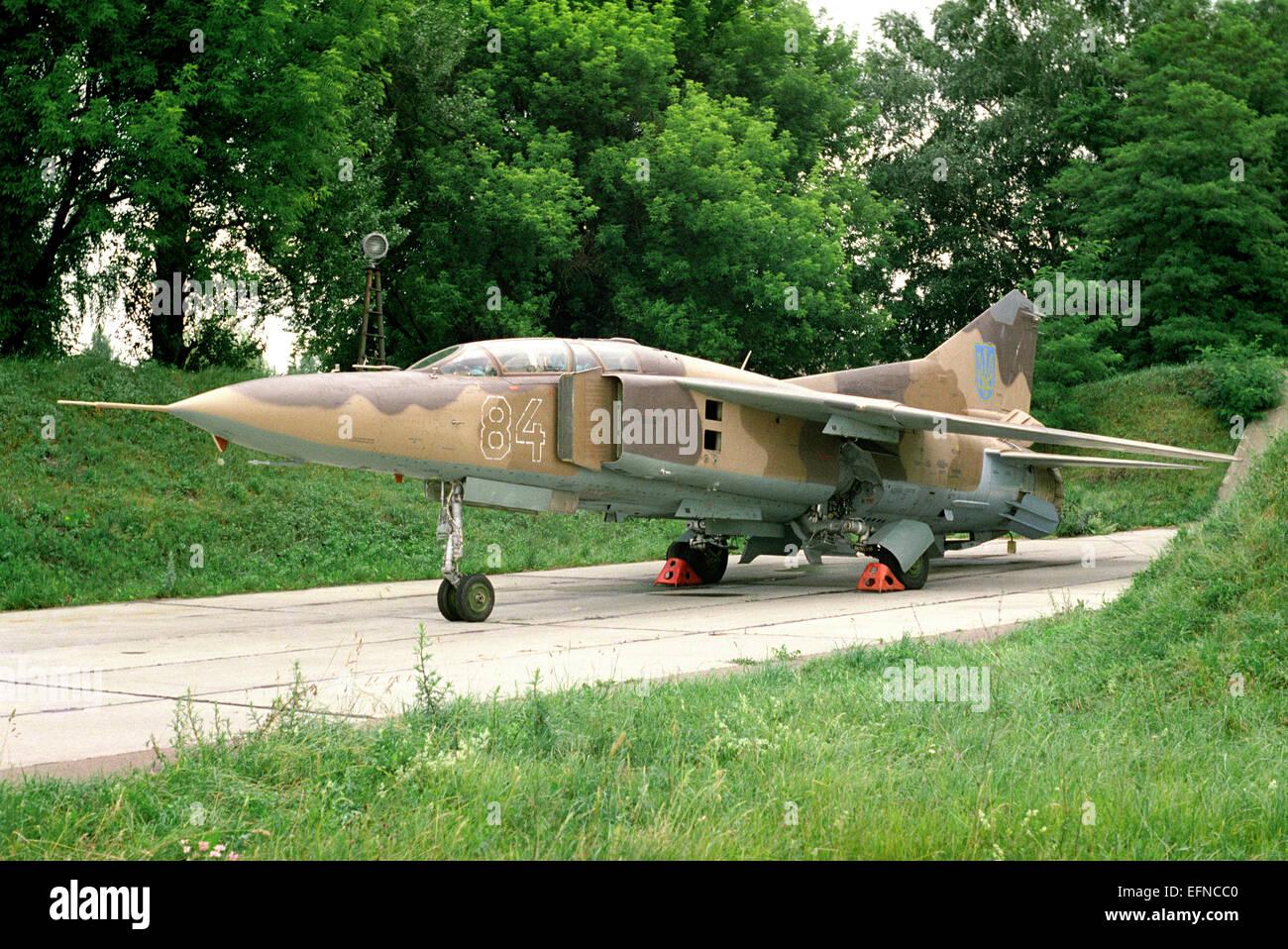 Combat training aircraft MiG-23 - Stock Image
