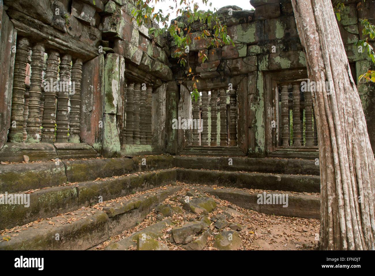 Cambodia, temple of Koh Ker. - Stock Image