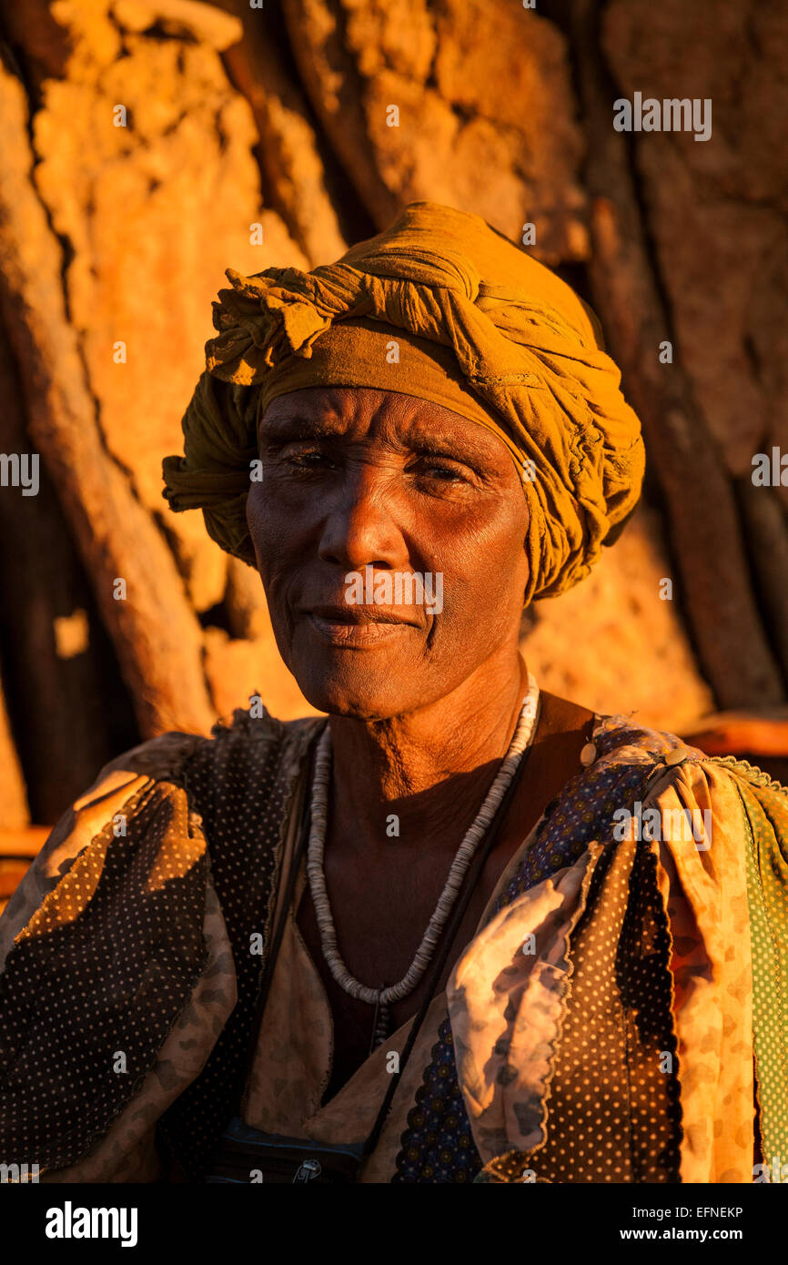 A portrait of an African woman. - Stock Image