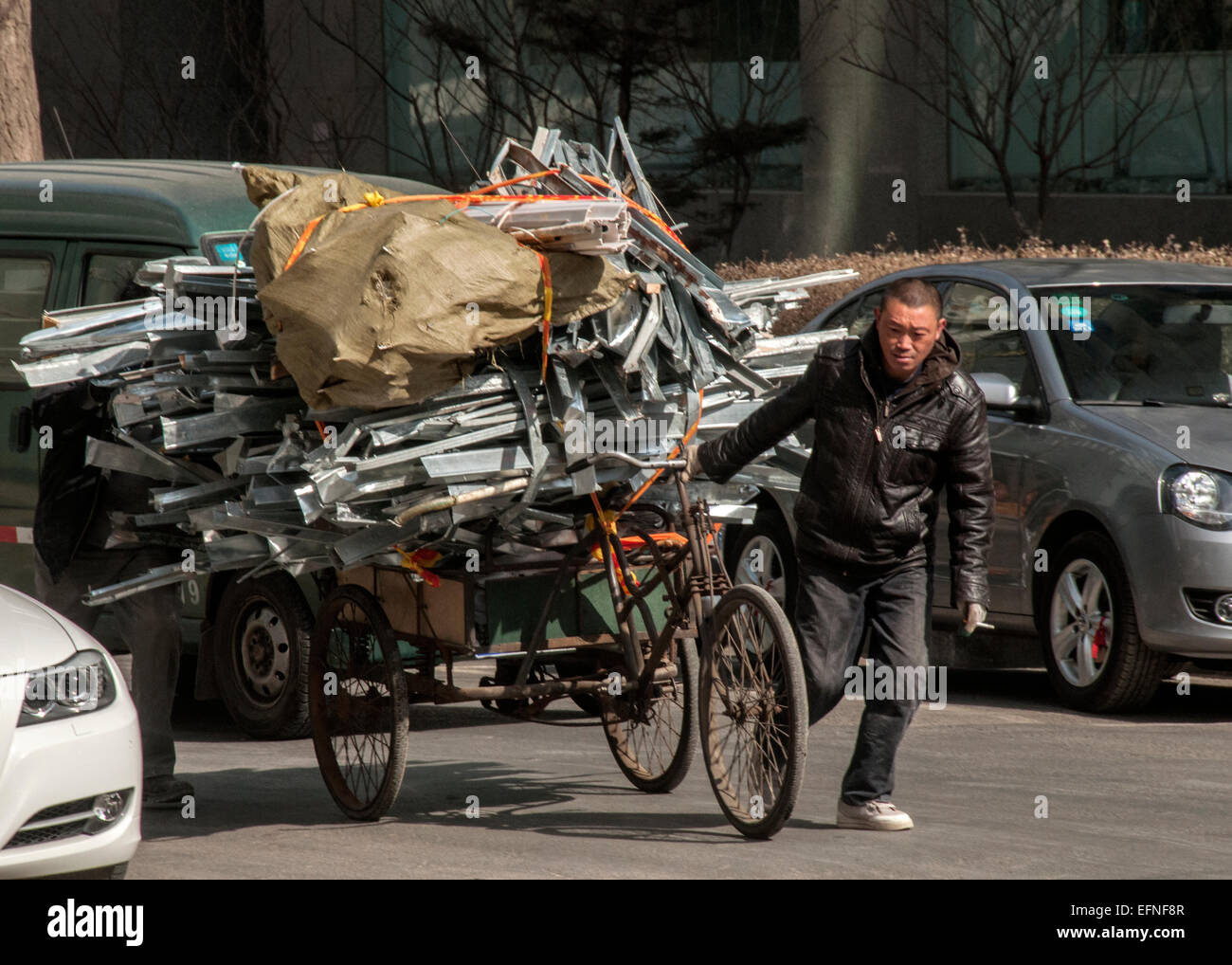 Transporting Junk,  Dalion China - Stock Image