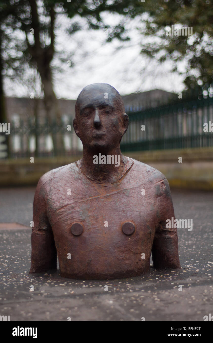 Life-size male body made of stain by Antony Gormley - Stock Image