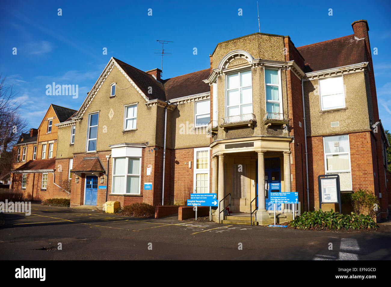The District Hospital Market Harborough Leicestershire UK - Stock Image