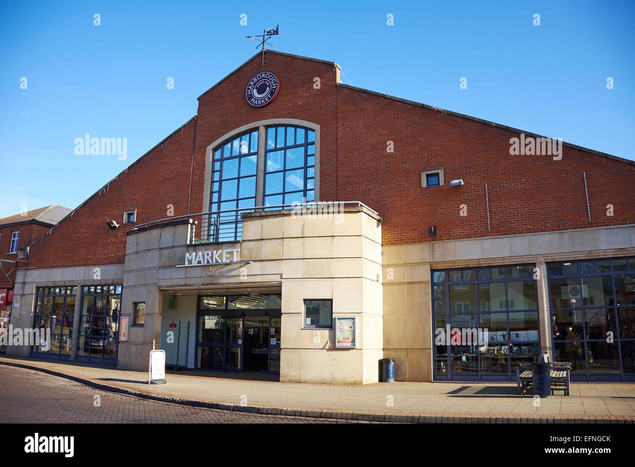 Market Hall Market Harborough Leicestershire UK - Stock Image