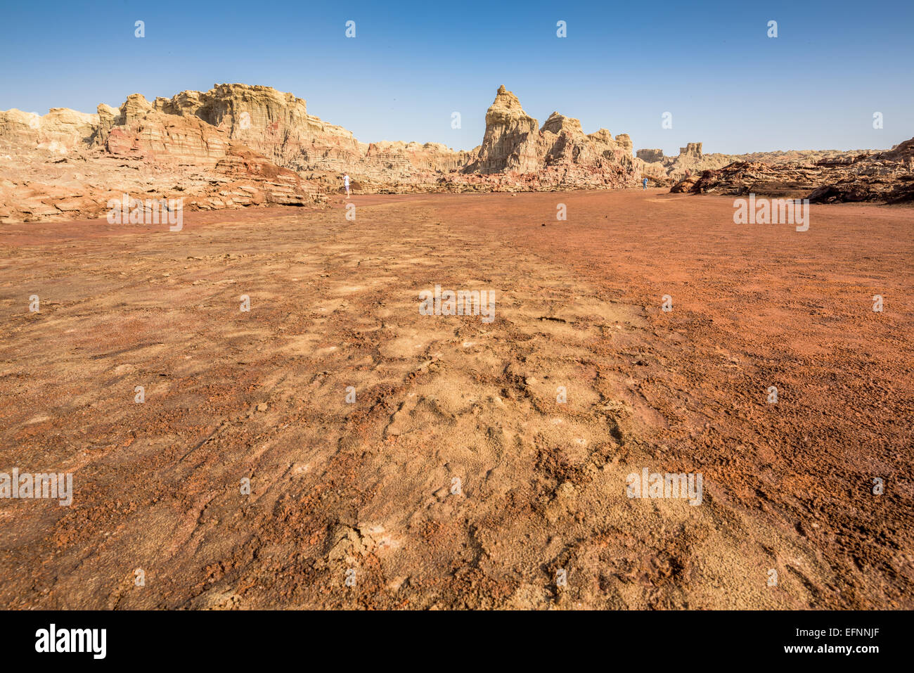 Danakil Depression desert near Dallol in Ethiopia - Stock Image