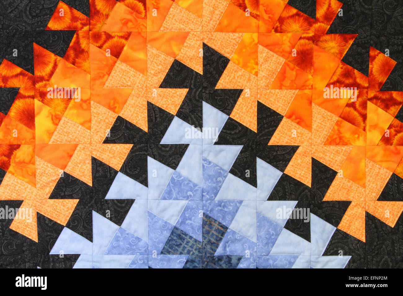 Quilt pattern. Canfield Fair. Mahoning County Fair. Canfield, Youngstown, Ohio, USA. - Stock Image