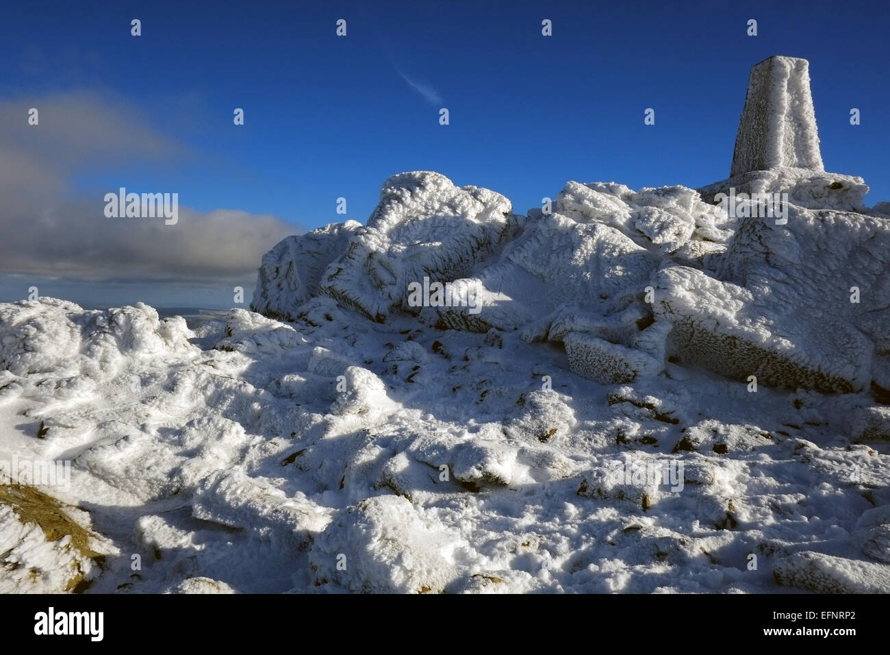 Cadir Idris during winter in the snow Stock Photo