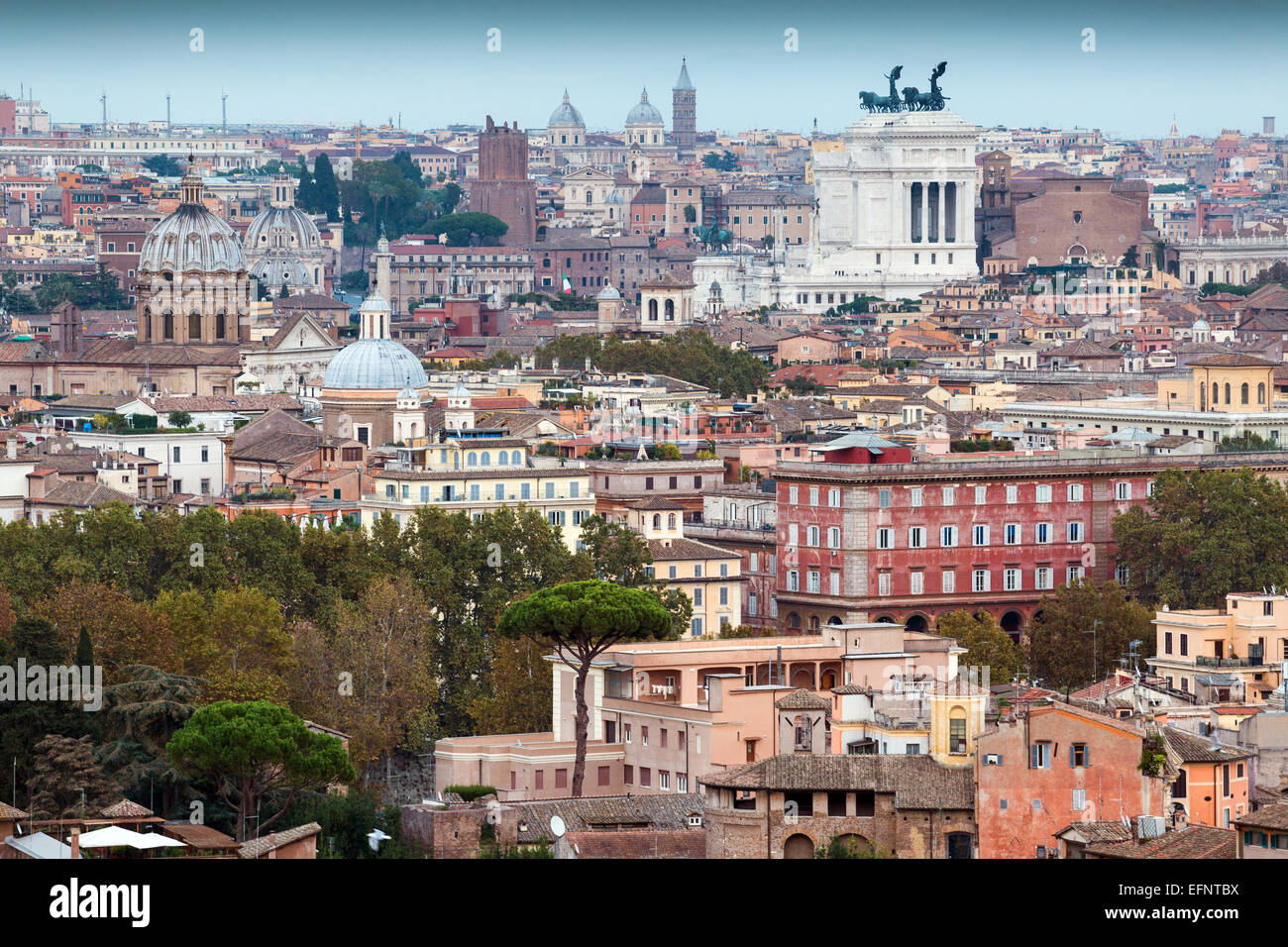 The Cityscape Of Rome View From Gianicolo Hill Piazzale