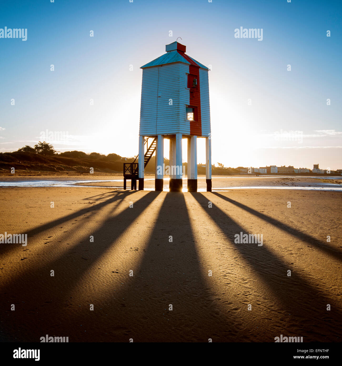 Burnham-on-sea lighthouse, Somerset - Stock Image