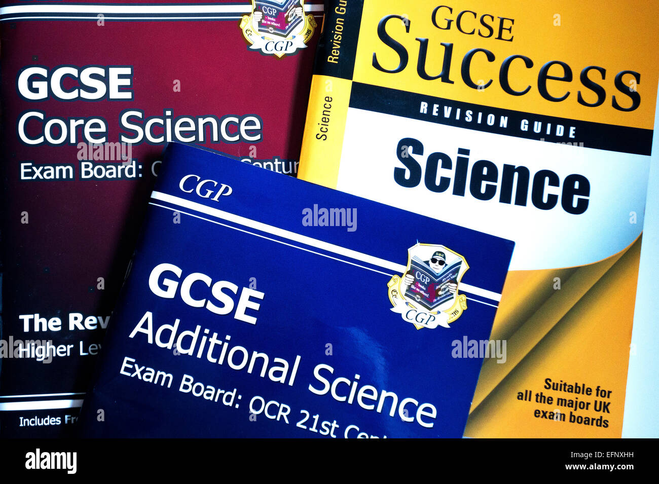 GCSE Science revision books - Stock Image