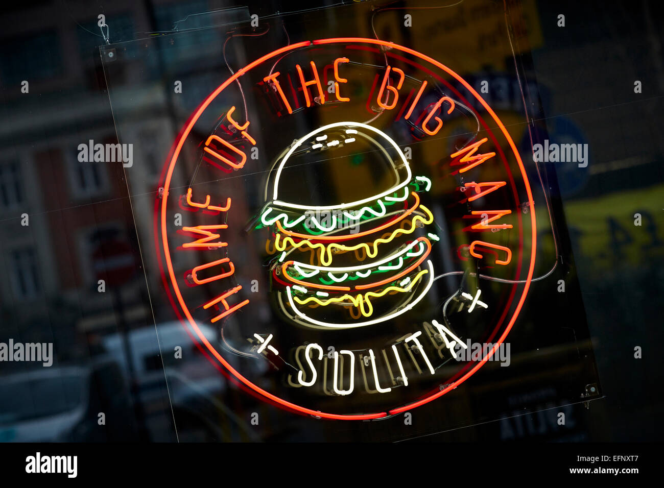 Solita, Home of the big manc sign in the Northern Quarter manchester Uk - Stock Image