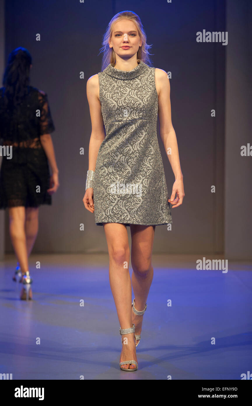 Model wearing high street designs during the Shopstyle fashion show at Clothes Show Live 2014, Birmingham NEC, UK. - Stock Image