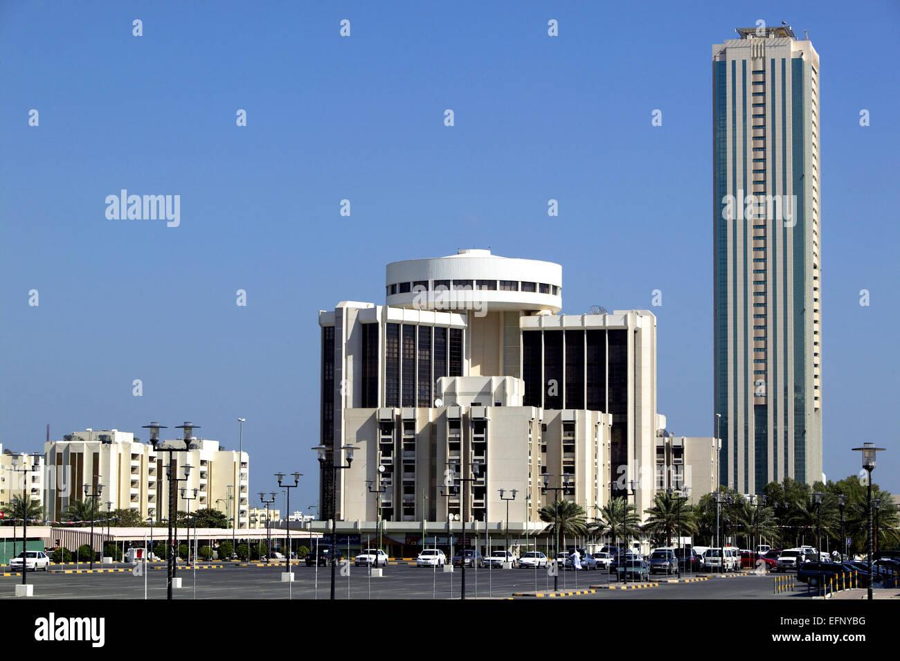 Vereinigte Arabische Emirate Fujairah City Architektur Hochhaus ...