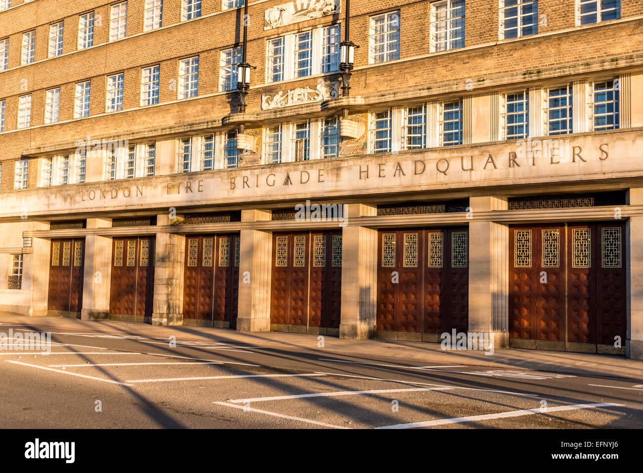 The old London Fire Brigade Headquarters was the HQ of the LBF until 2007 and is located on Albert Embankment in - Stock Image