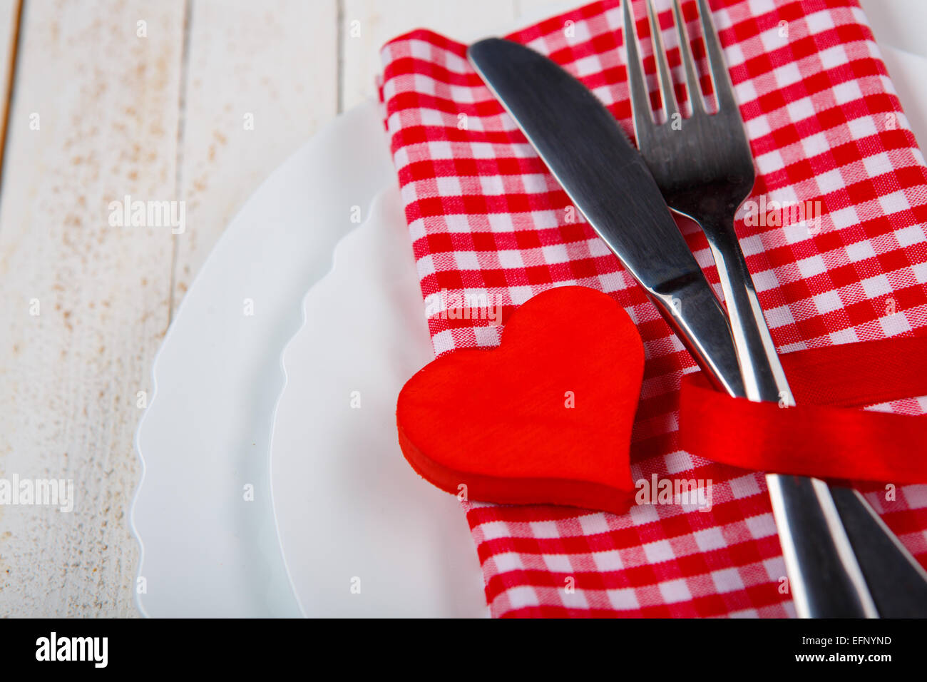 The Perfect Romantic Dinner Closeup Of Wooden Table Served With