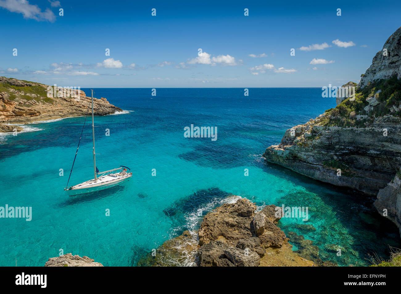 Dreamy bay seascape - Stock Image