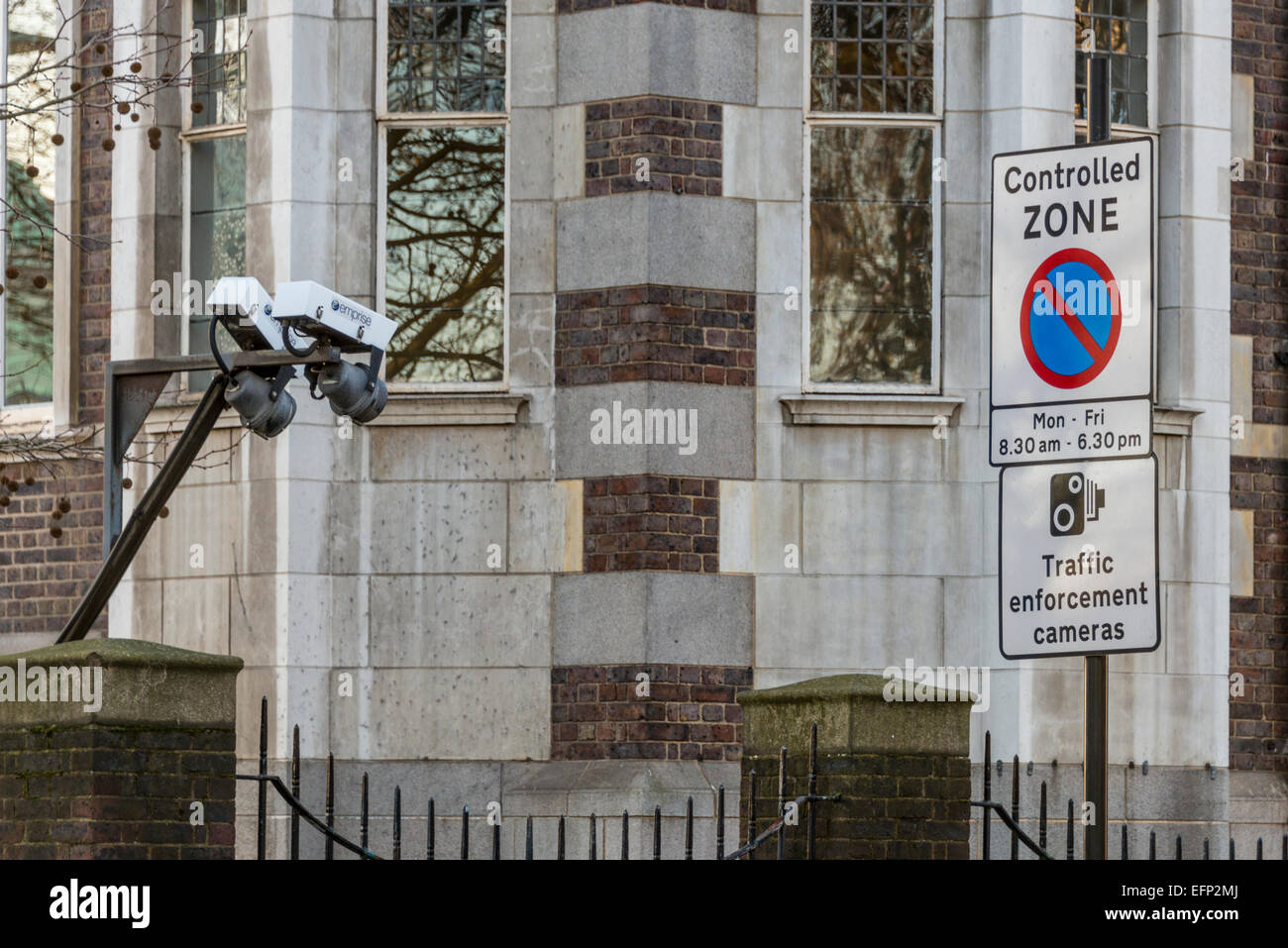 Traffic enforcement cameras and CCTV in the Borough of Westminster London - Stock Image