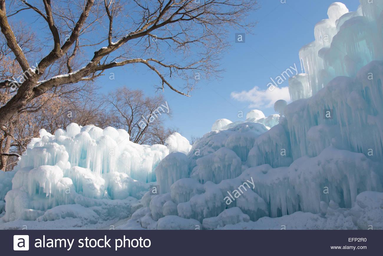 Ice barricade - Stock Image