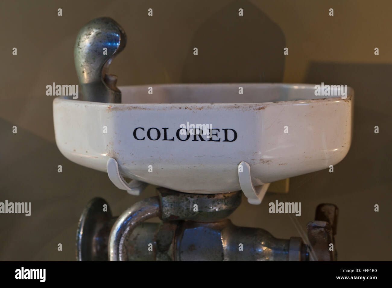 Segregated drinking fountain, 1940s / 1950s - USA - Stock Image