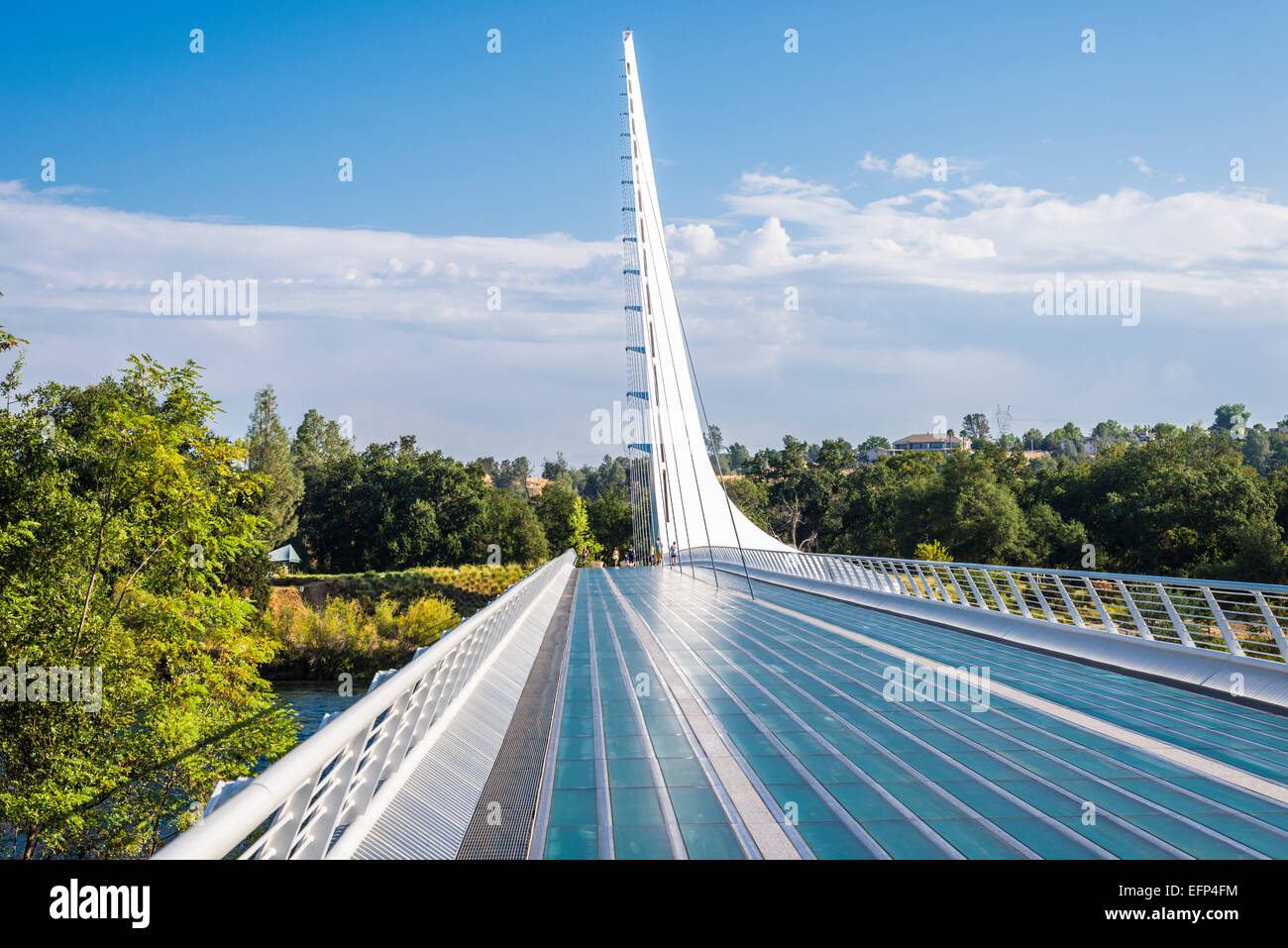 The Sundial Bridge at Turtle Bay.   Redding, California, United States. - Stock Image