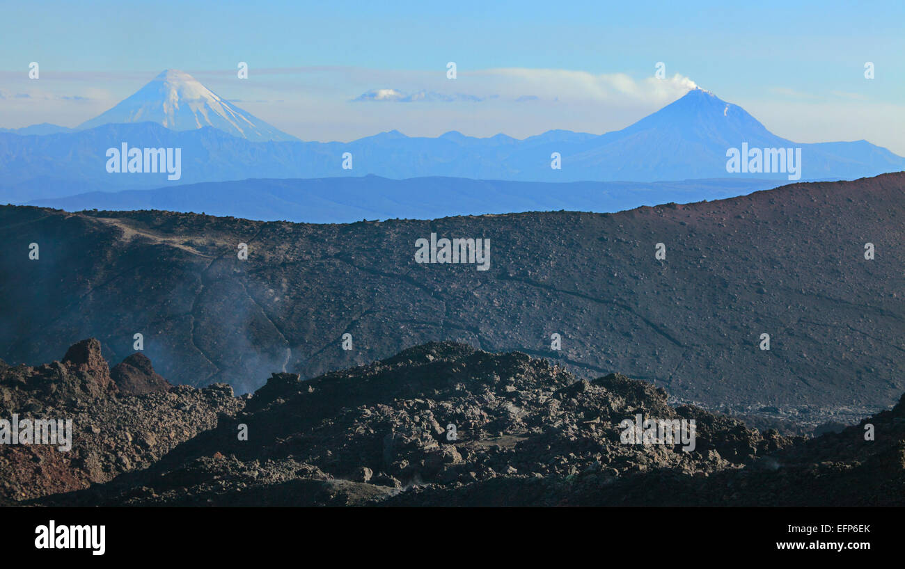 Tolbachik volcano, Kamchatka Peninsula, Russia - Stock Image
