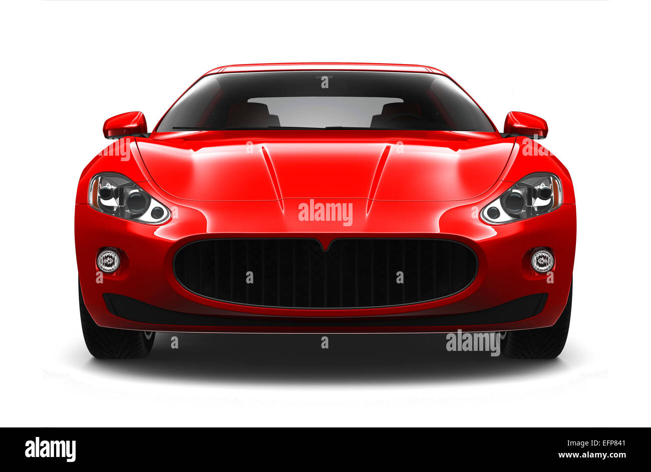 Red sport coupe car - Stock Image
