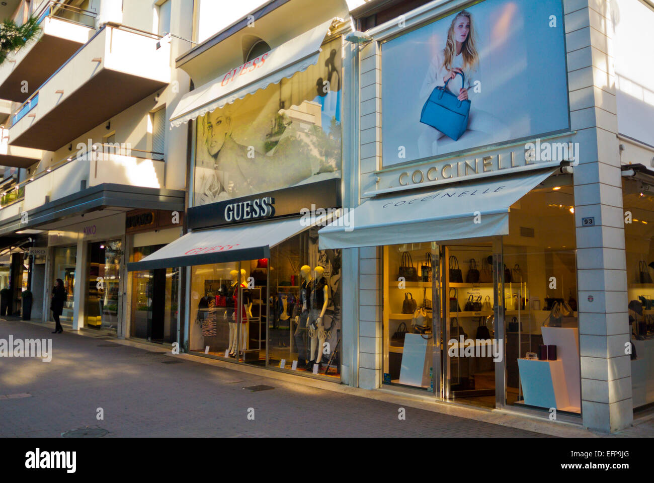 Shops, Riccione, resort near Rimini, Emilia Romagna region, central ...