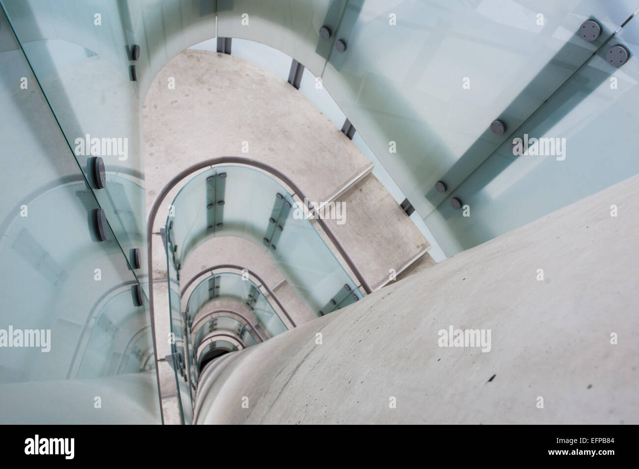 Belgium, Antwerp, void of the staircase of the Red Star Line museum - Stock Image