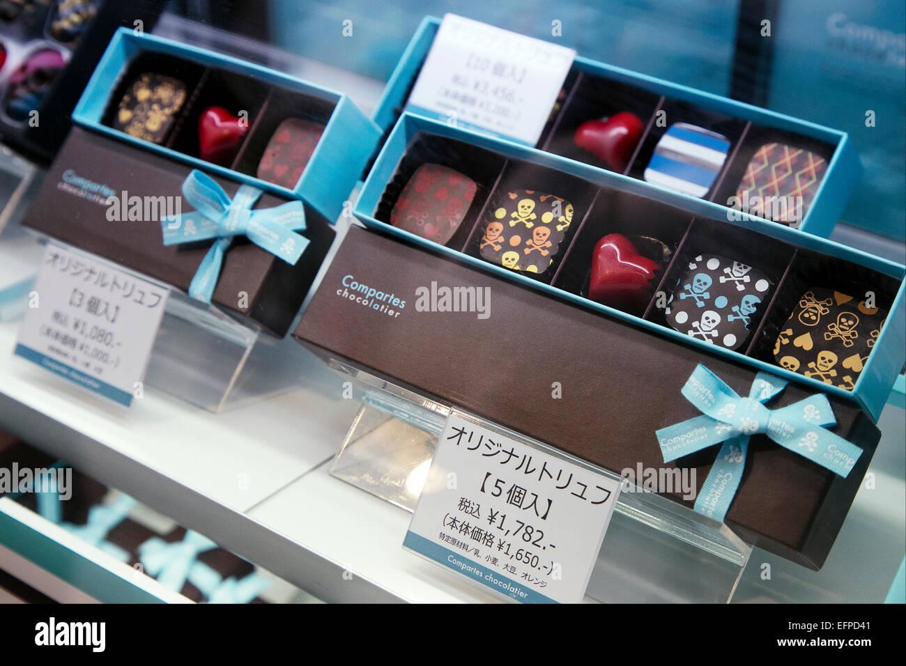 Valentine S Chocolate On Display On February 9 2015 Tokyo Japan