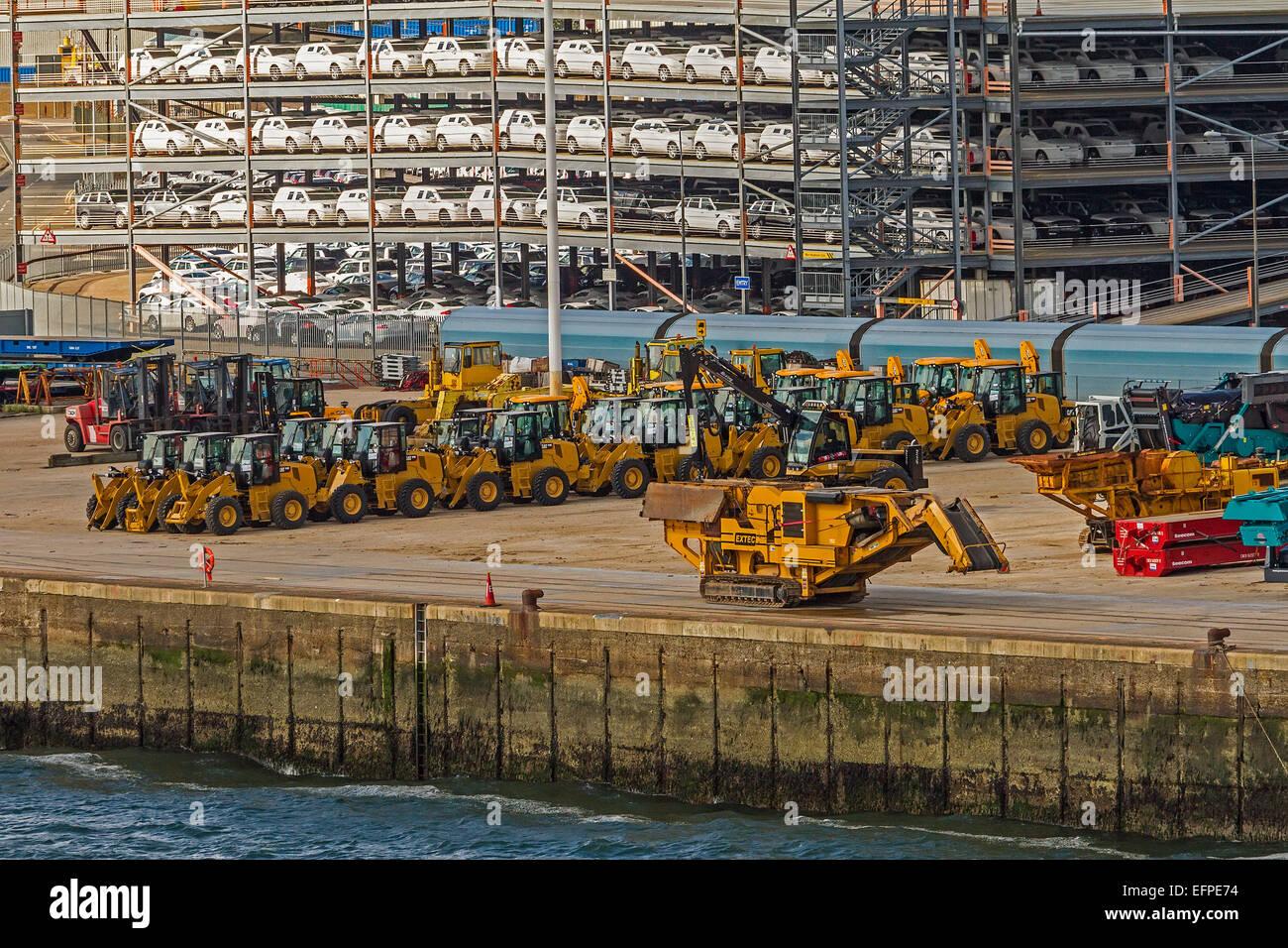 Vehiicles For Export The Dock Southampton UK - Stock Image