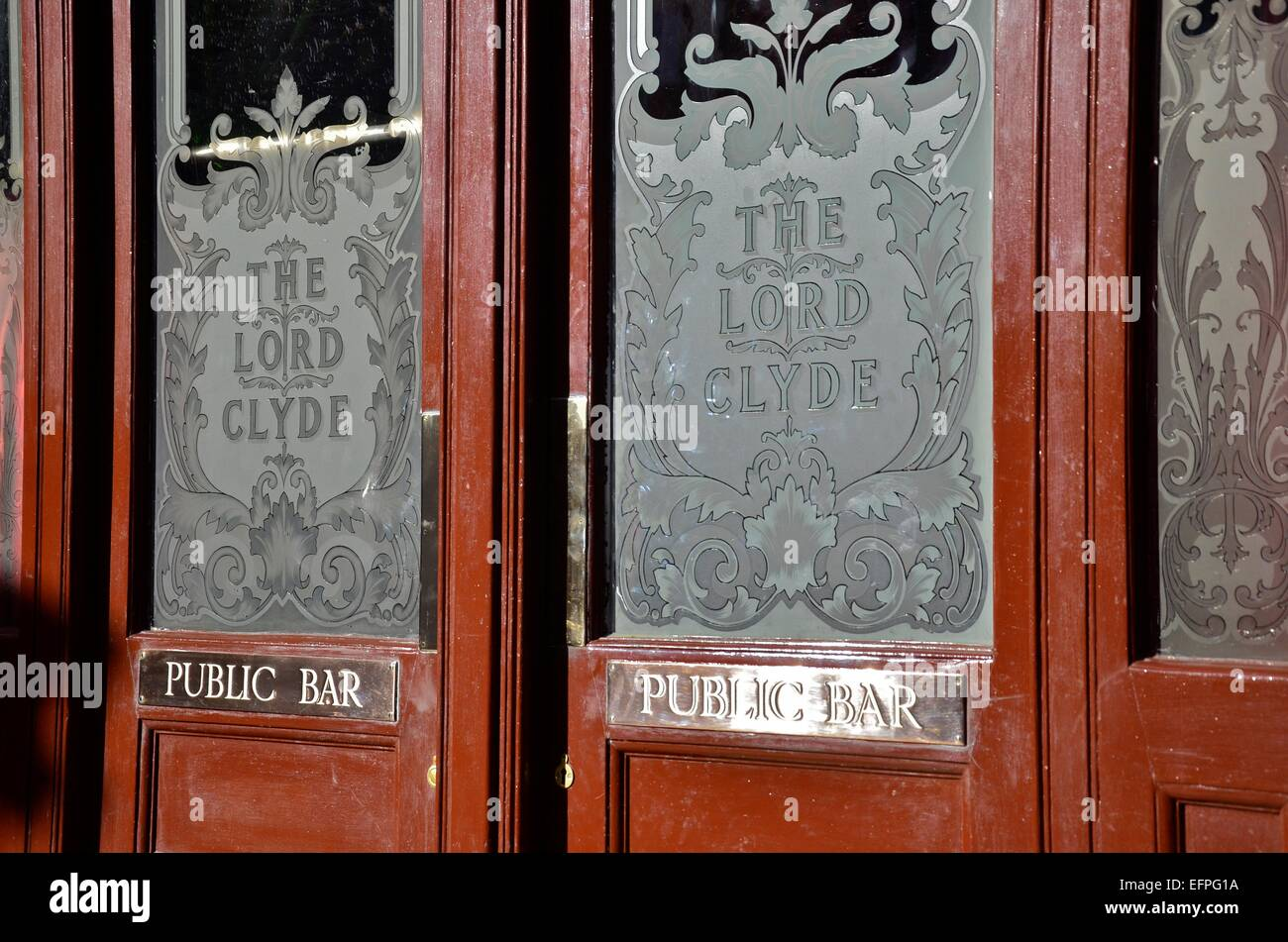 Doors of The Lord Clyde pub Clennan Street Southwark London England & Uk Pub Entrance Doors Stock Photos u0026 Uk Pub Entrance Doors Stock ...