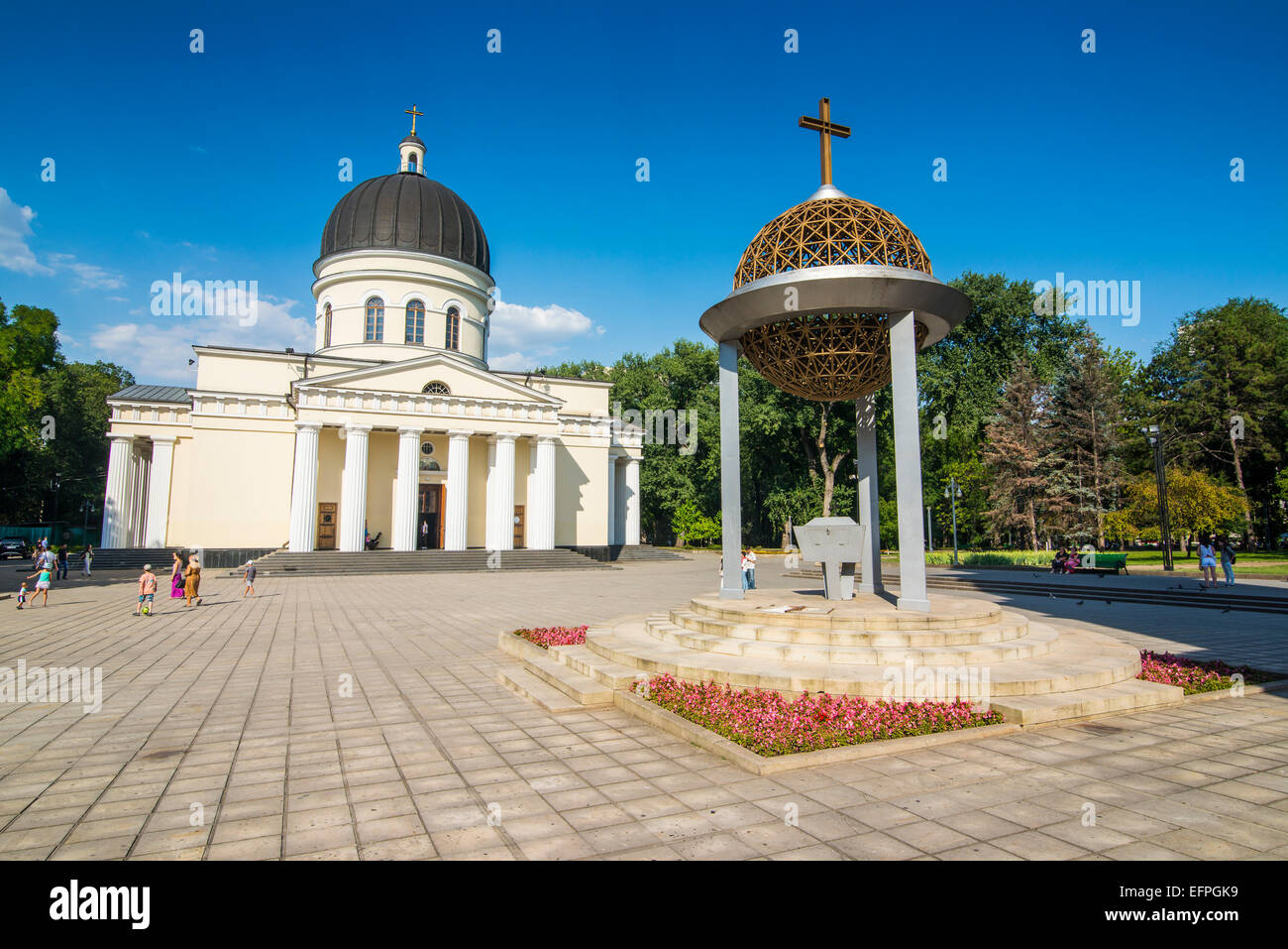 Nativity cathedral in the center of Chisinau capital of Moldova, Eastern Europe - Stock Image