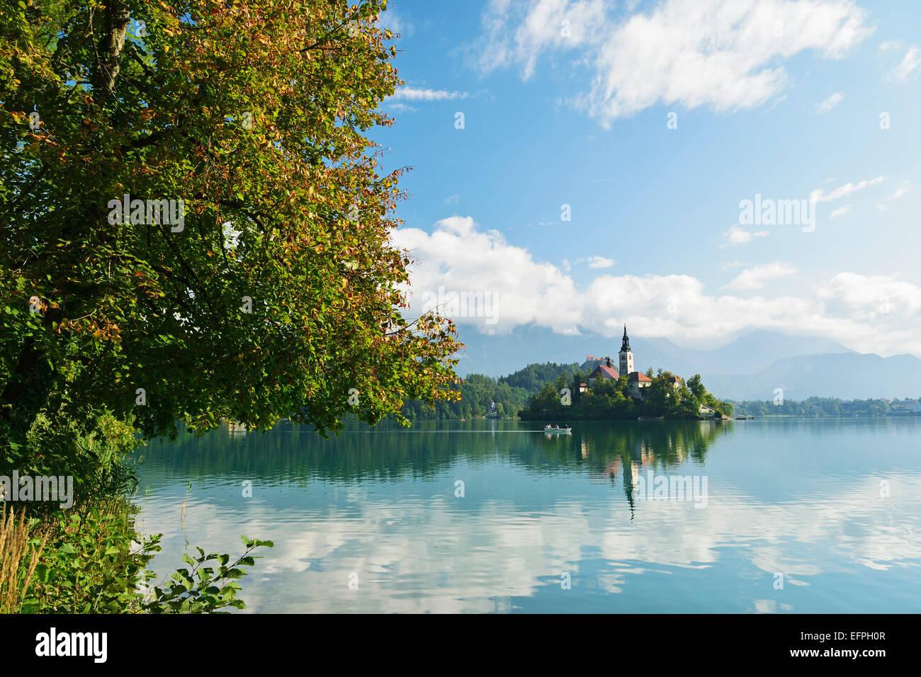 Lake Bled (Blejsko jezero), Bled, Julian Alps, Slovenia, Europe Stock Photo