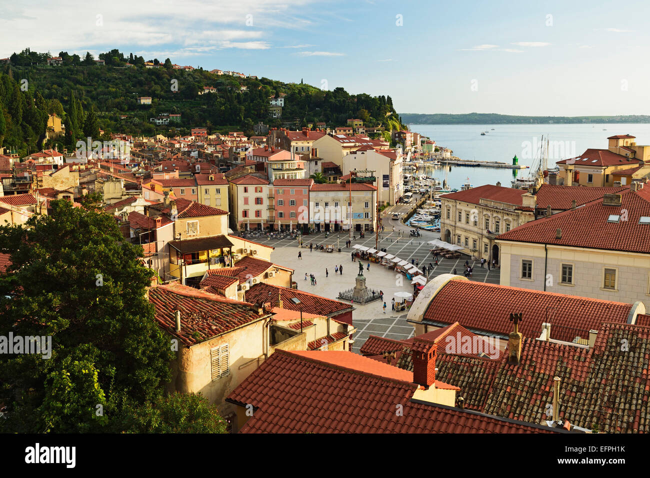 Piran, Gulf of Piran, Adriatic Sea, Slovenia, Europe - Stock Image