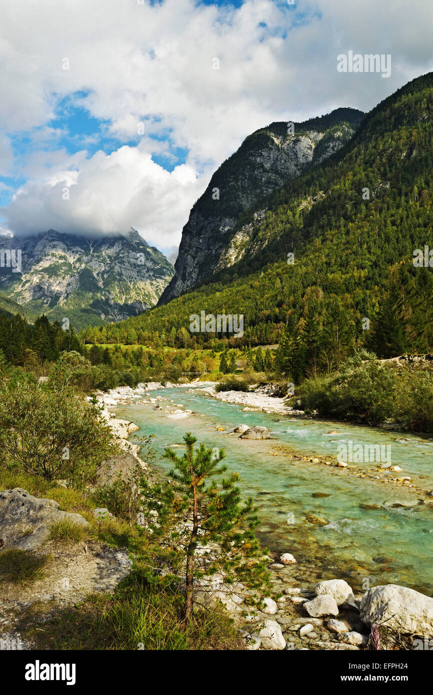 Soca River, Soca Valley, Slovenia, Europe - Stock Image