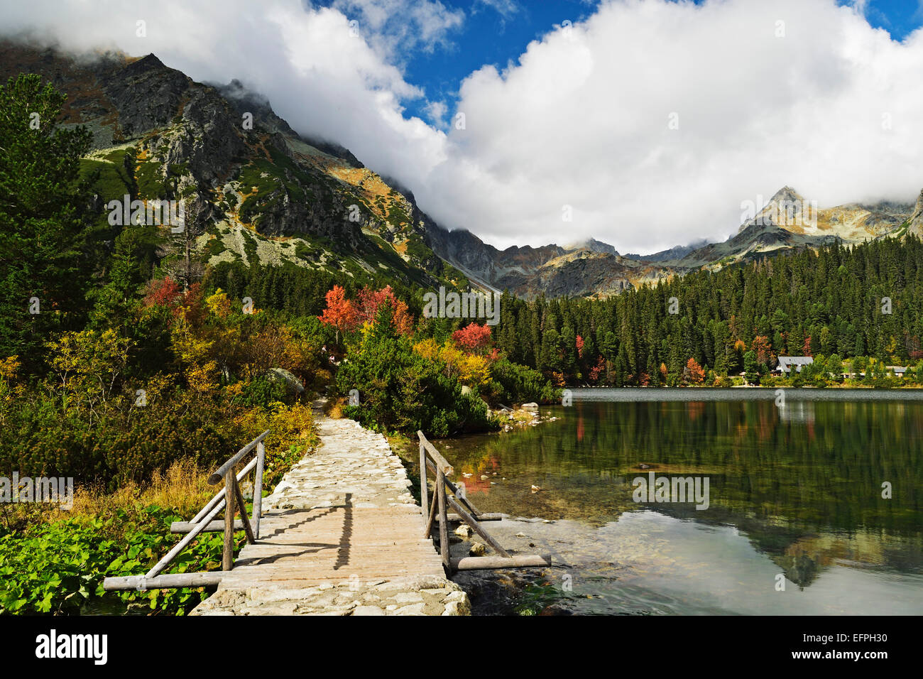 Popradske Pleso, High Tatras (Vysoke Tatry), Slovakia, Europe - Stock Image