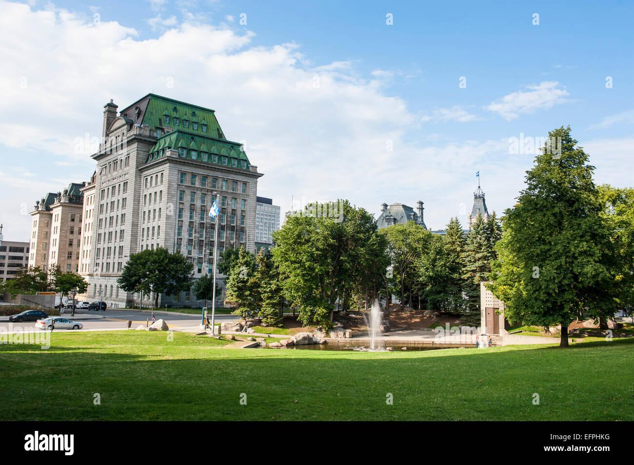 Park in Quebec City, Quebec, Canada, North America - Stock Image