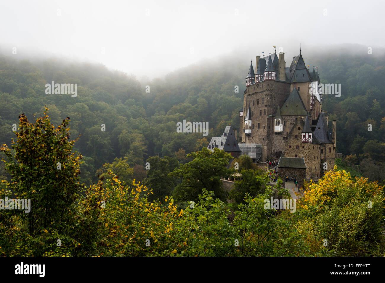 Fairytale castle Eltz near the Moselle Valley, Rhineland-Palatinate, Germany, Europe - Stock Image