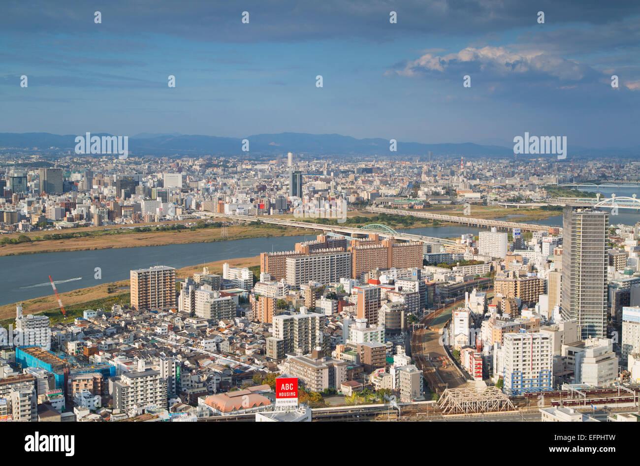 View of Osaka, Kansai, Japan, Asia - Stock Image