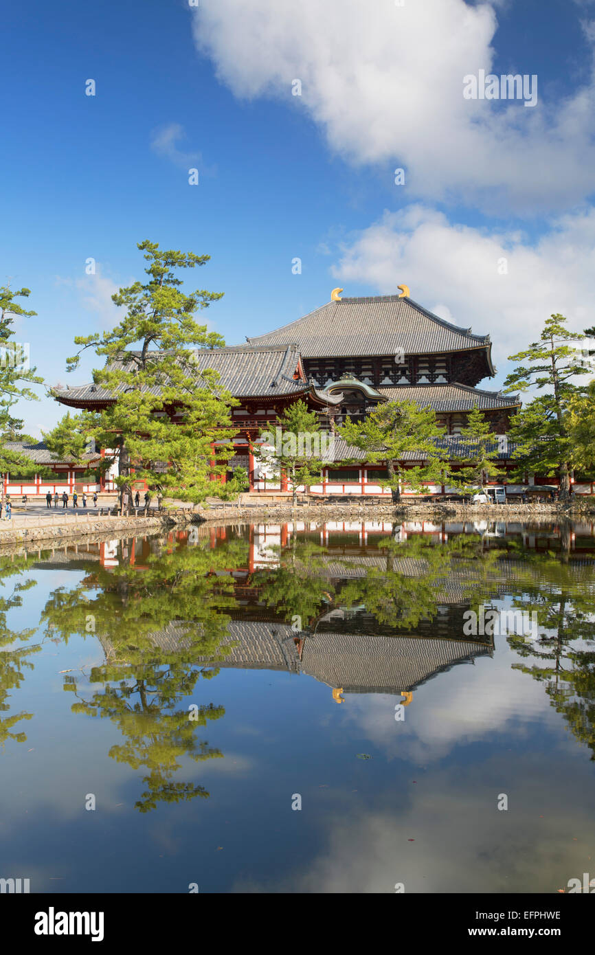 Todaiji Temple, UNESCO World Heritage Site, Nara, Kansai, Japan, Asia - Stock Image
