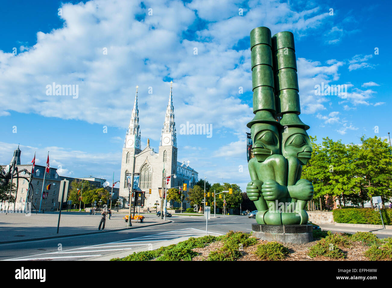 Modern statue, Ottawa, Ontario, Canada, North America - Stock Image