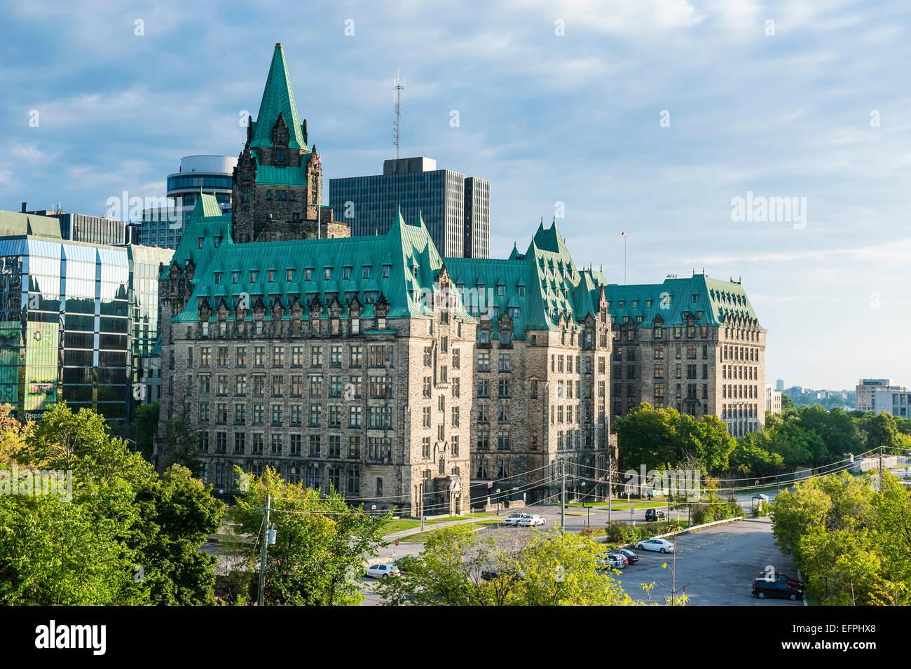 Confederation building in the center of Ottawa, Ontario, Canada, North America - Stock Image