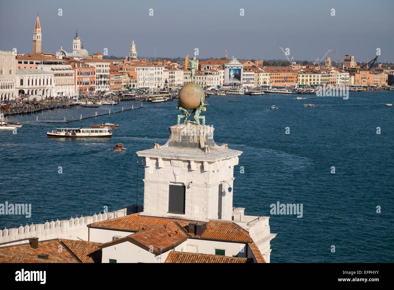 Punta della Dogana (Dogana di Mare), the old Venice customs post, now a modern art museum, UNESCO, Veneto, Italy - Stock Image
