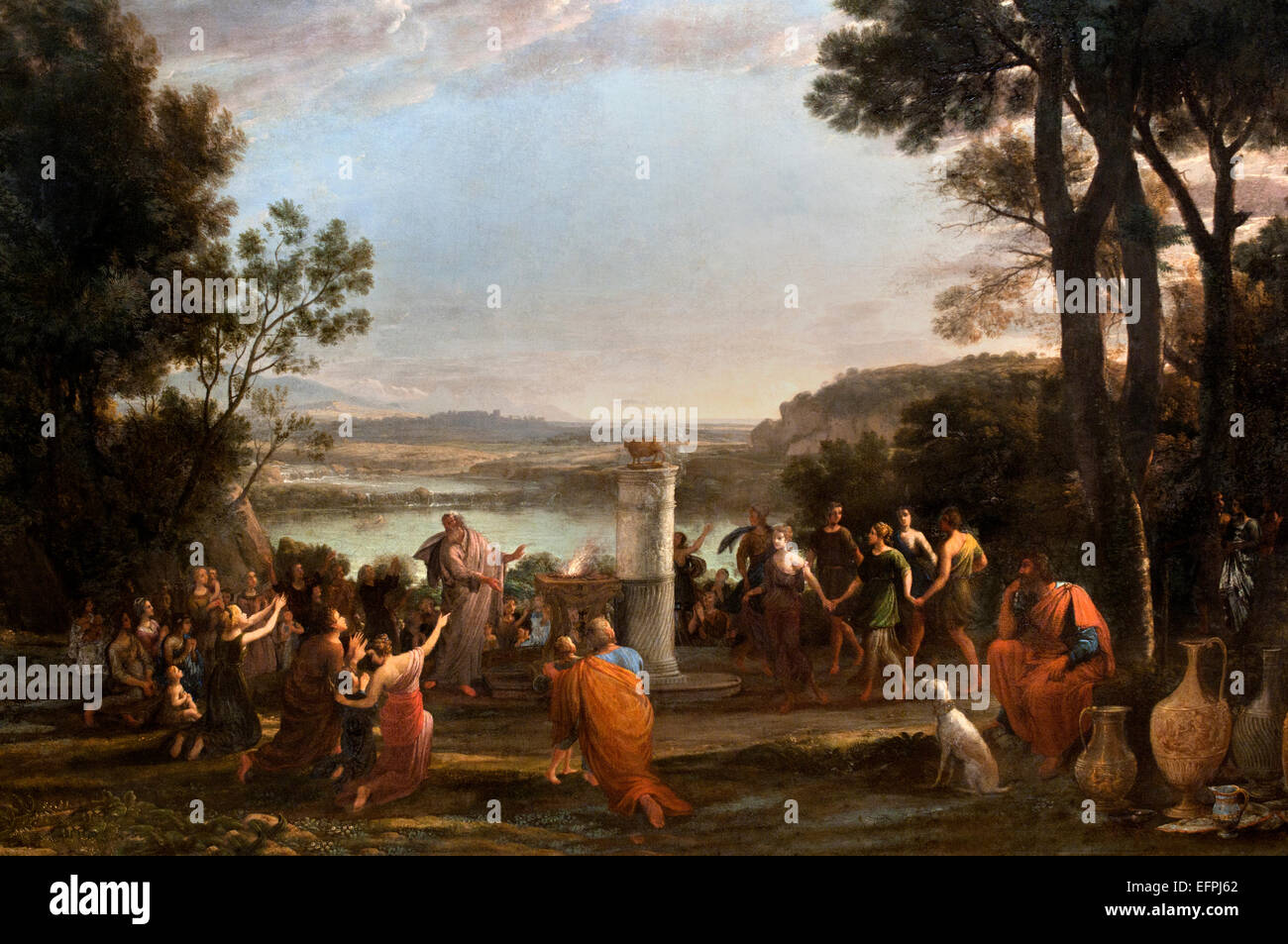 The Adoration of the Golden Calf 1653 Claude Lorrain - Claude Gellée 1604/1605–1682)   France French - Stock Image