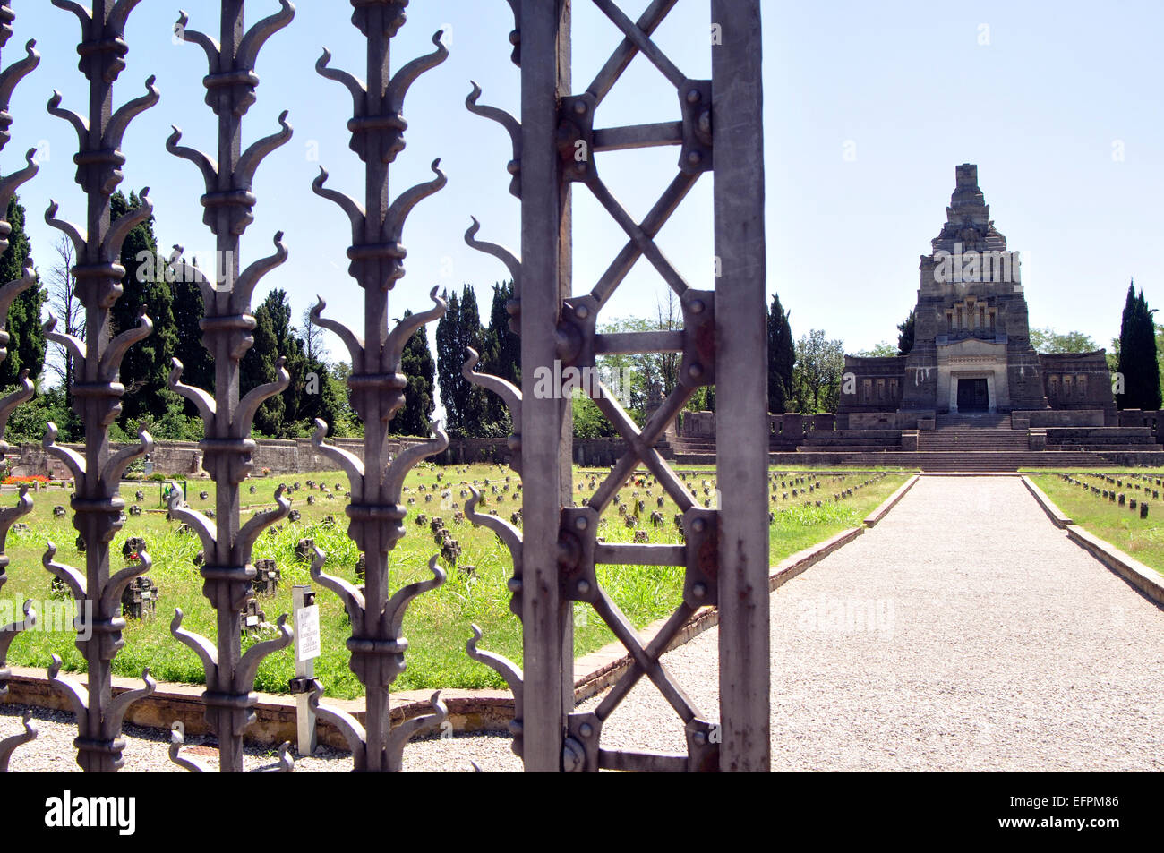 Italy, Lombardy, Crespi d'Adda, World Heritage Site, Worker Village, Cemetery - Stock Image
