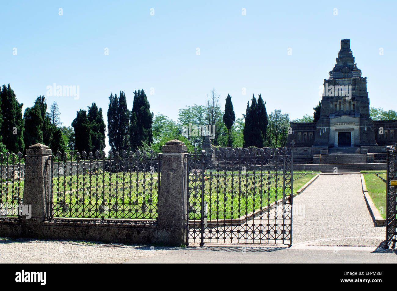 Italy, Lombardy, Crespi d' Adda, World Heritage Site, Worker Village, Cemetery - Stock Image