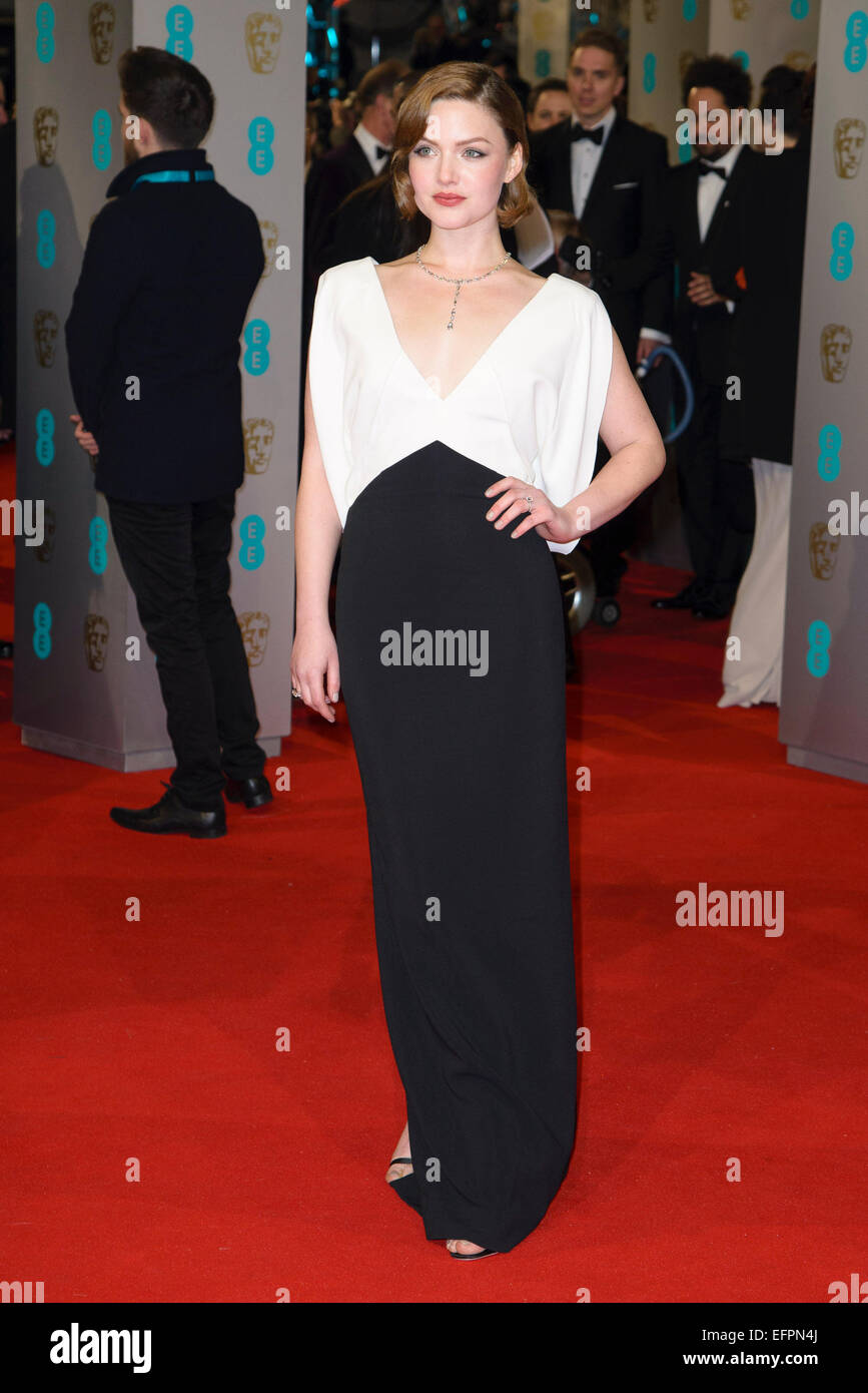 Holliday Grainger arrives on the red carpet for the EE BRITISH ACADEMY FILM AWARDS on 08/02/2015 at Royal Opera - Stock Image