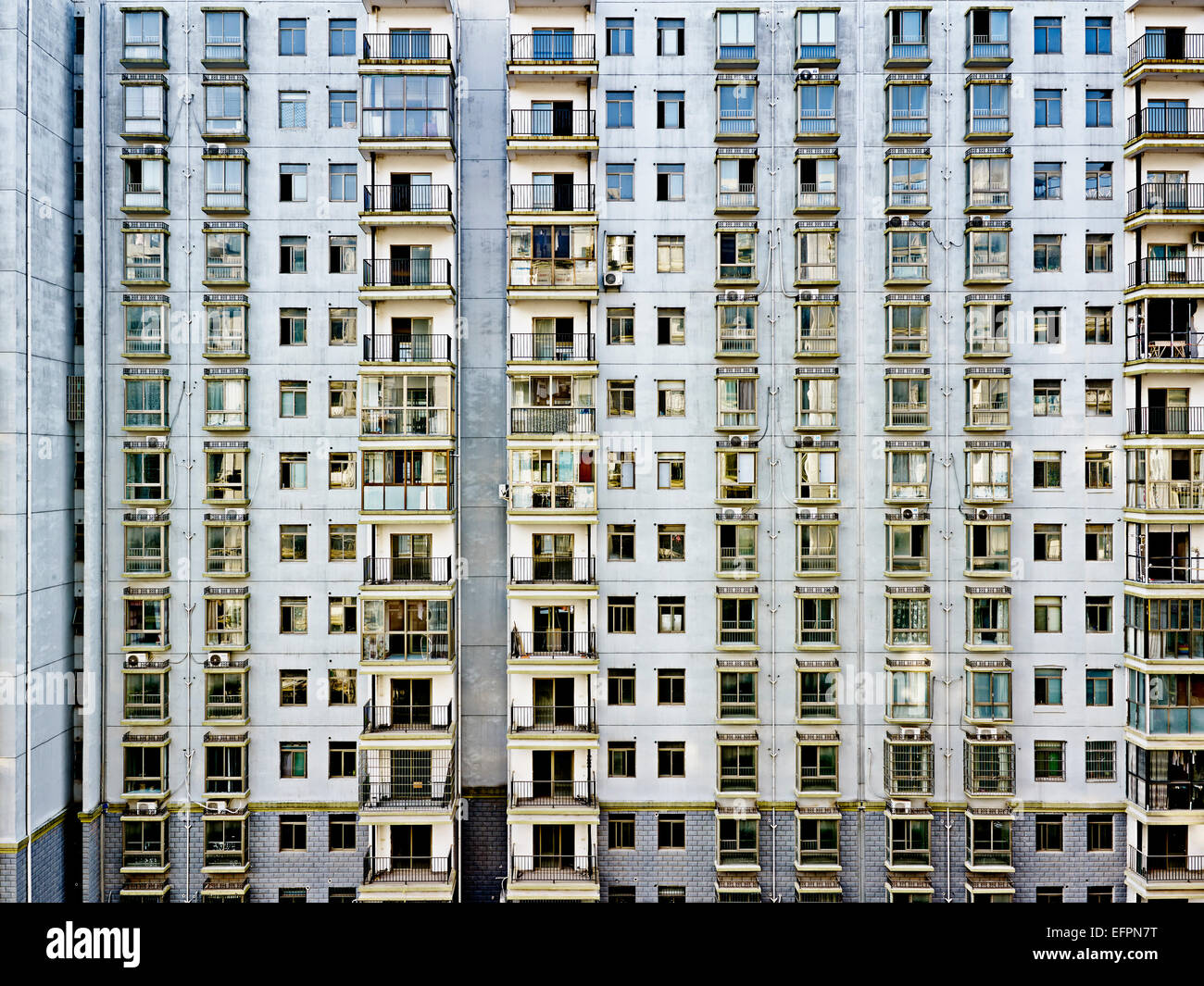 Unoccupied apartment block, Changsha, Hunan, China - Stock Image